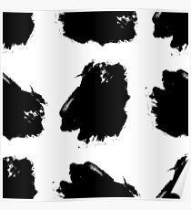 Hand drawn ink brush strokes. Poster