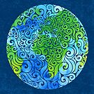 Swirly Earth by . VectorInk