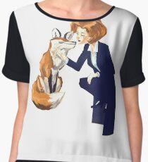 trust of a fox - x files Women's Chiffon Top