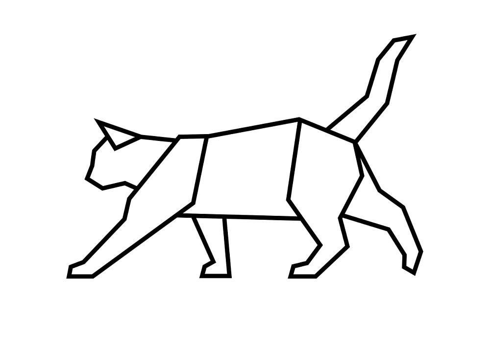 Geometric Cat by mgddesign