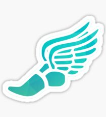 Light Blue Ombre Track Shoe Sticker