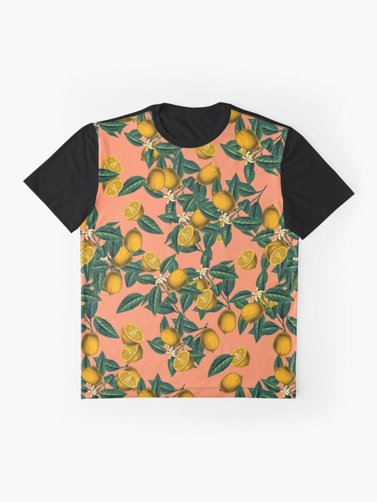 Alternate view of  Lemon and Leaf Graphic T-Shirt