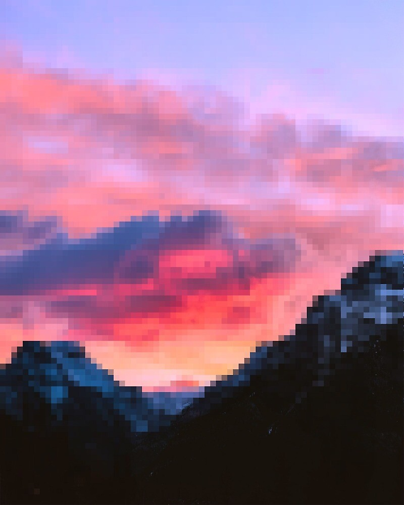 "cute pixel sunset"" by coolartstar"