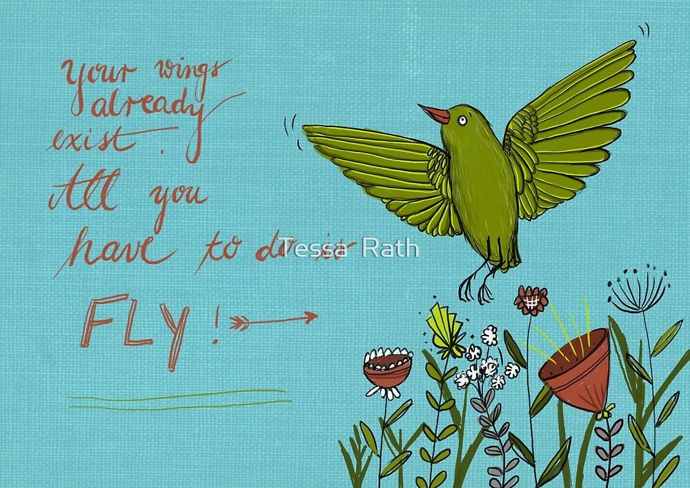Flying bird by Tessa  Rath