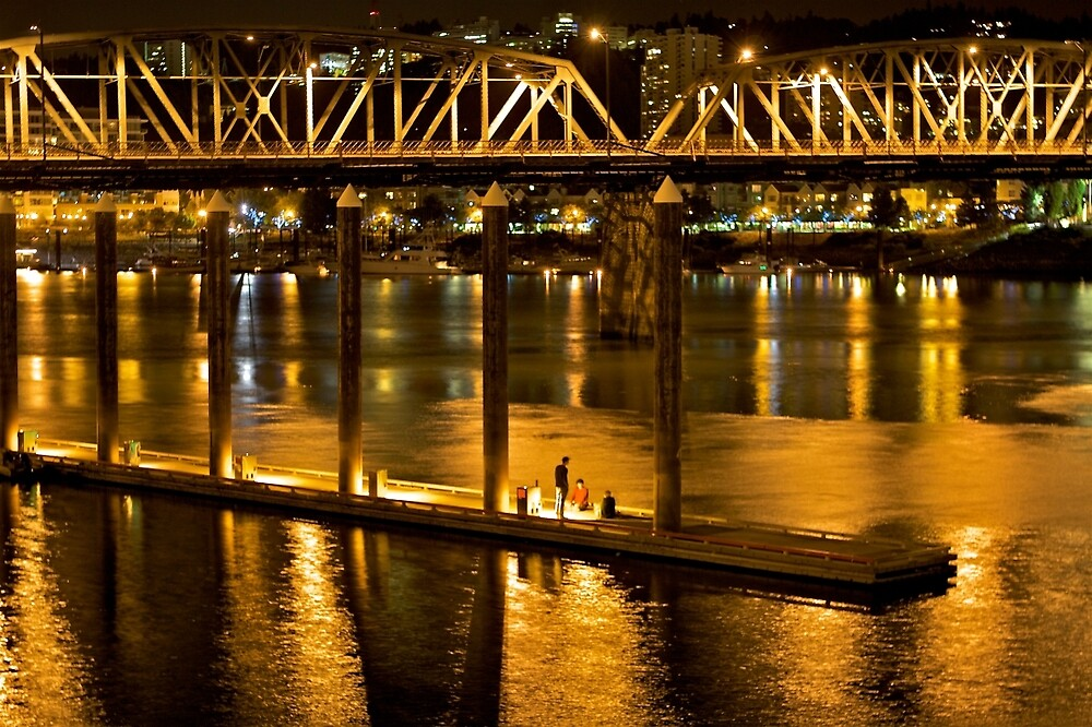 Hawthorne Bridge  by ScHPhotography Digital Paintings and Design