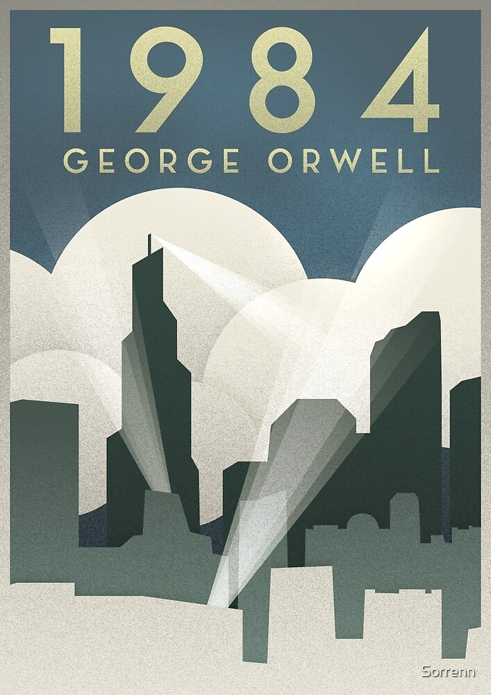 George Orwell - 1984, Art Deco Poster by Connor Sorhaindo