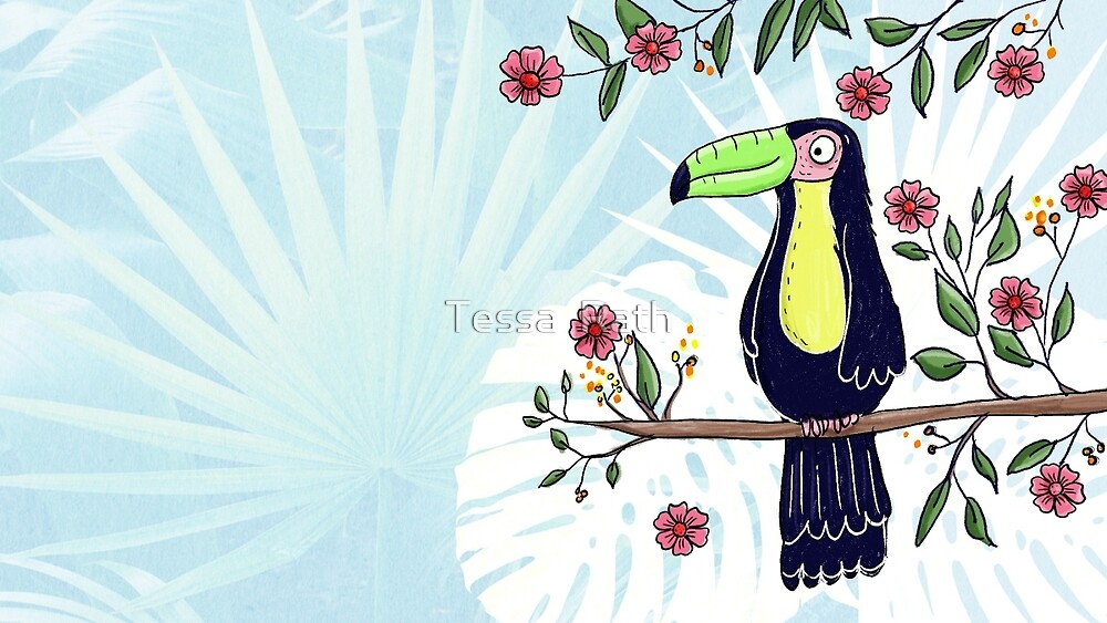 Toucan in the jungle by Tessa  Rath