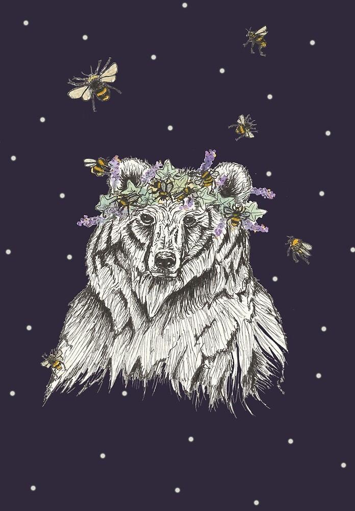 The Bear and the Bees at Midnight by HannahRaymond