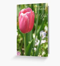 Thank You Card - Pink Tulip Greeting Card