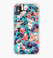 Pinup and Floral Pattern iPhone Case