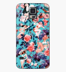 Pinup and Floral Pattern Case/Skin for Samsung Galaxy
