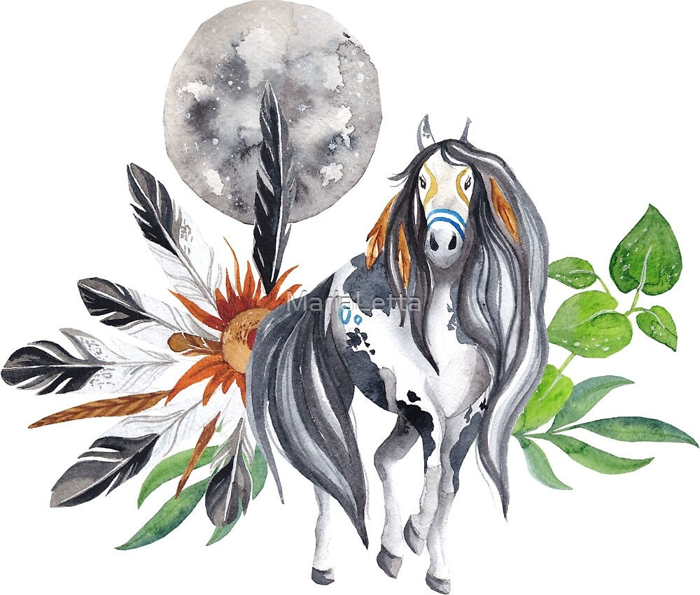 Moon indian horse by MariaLetta