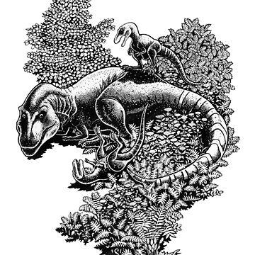 Tyrannosaurus by irimali