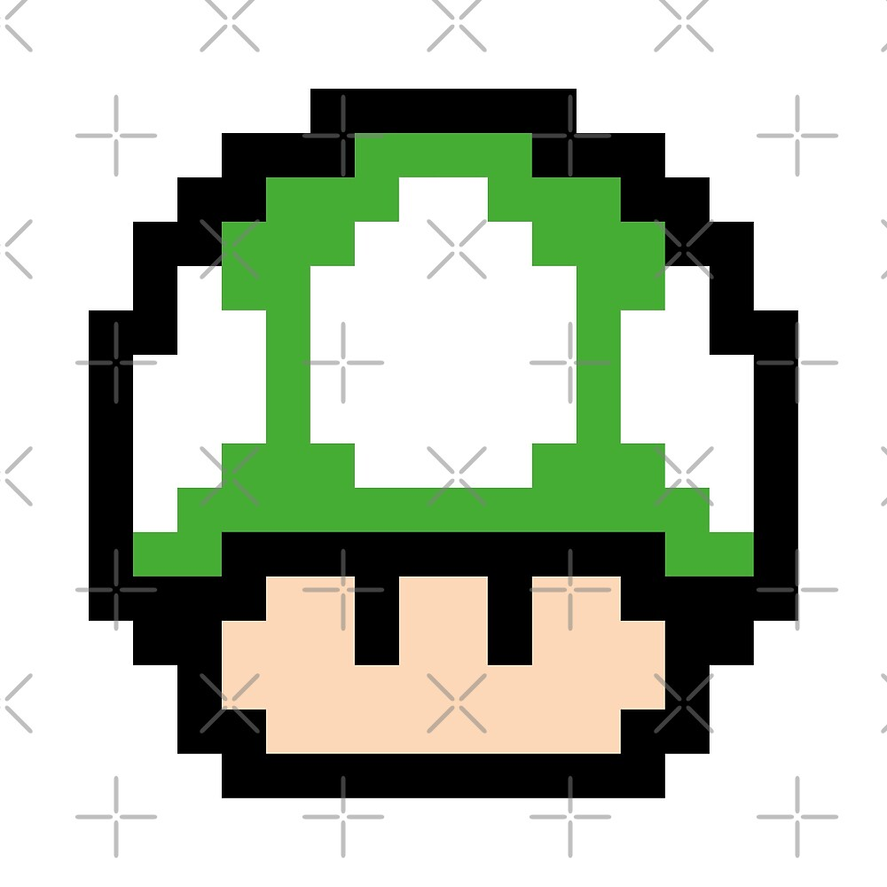 Green Mushroom - Pixel Fan Art by two34
