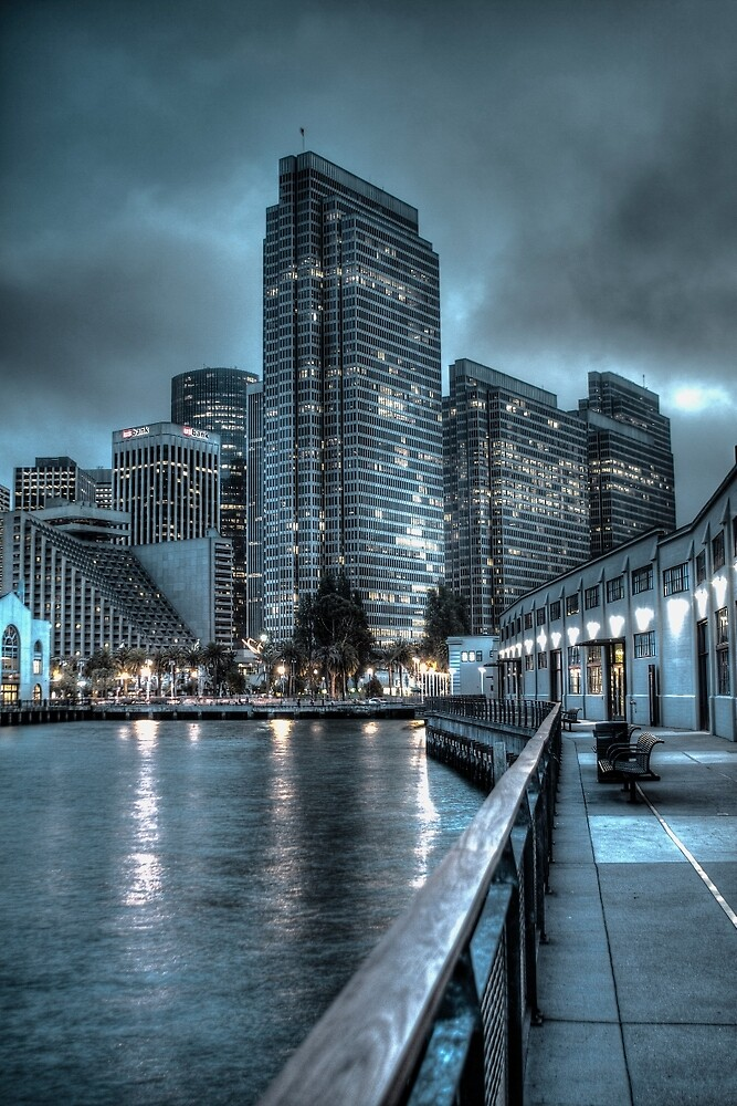 A Walk On The Embarcadero Waterfront by ScHPhotography Digital Paintings and Design