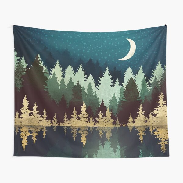 Star Forest Reflection Tapestry