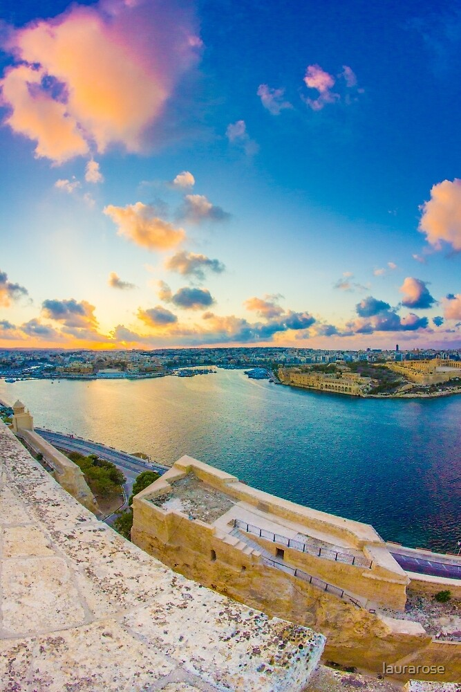 Sunset over Sliema, Malta by laurarose