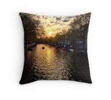 Amsterdam sunset Throw Pillow