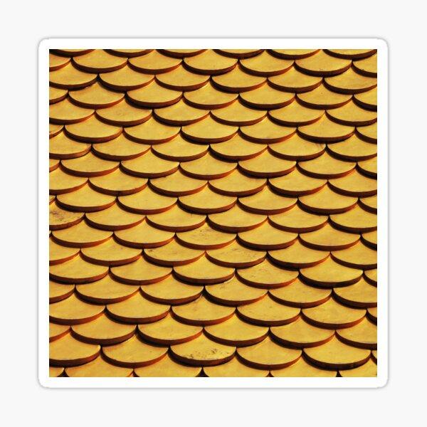 Golden Fishscales Sticker