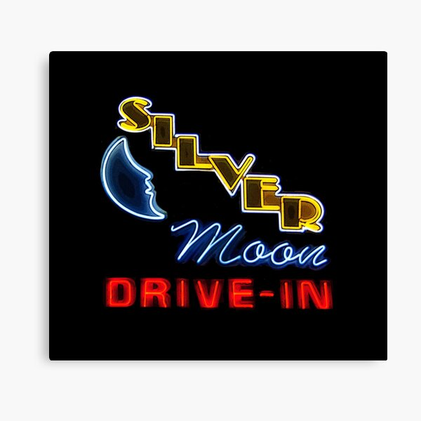 Silver Moon Drive In Canvas Print