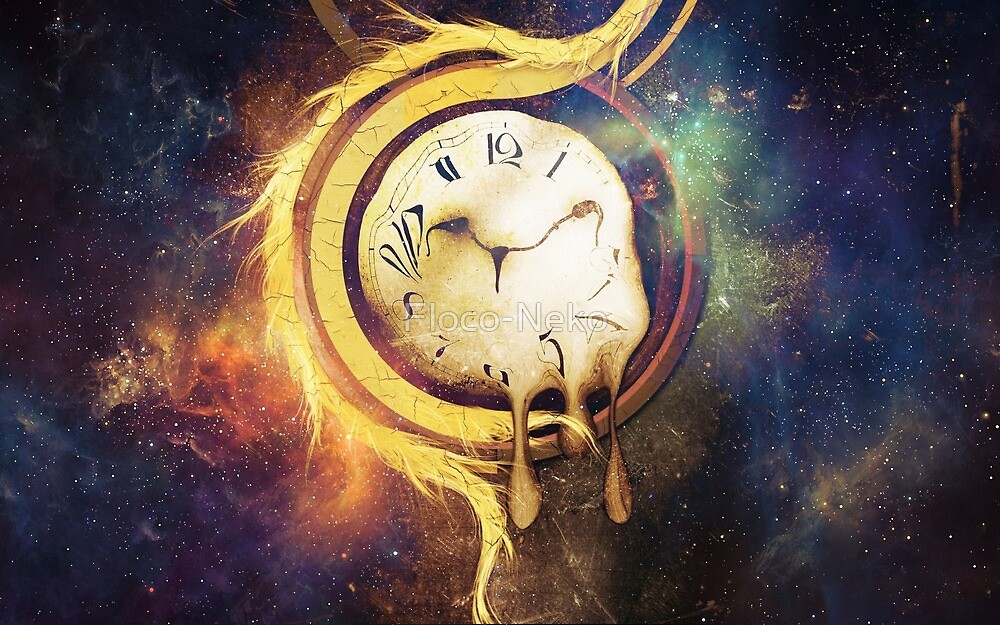 Galaxy - Nebula - Steampunk - Clock by Floco-Neko