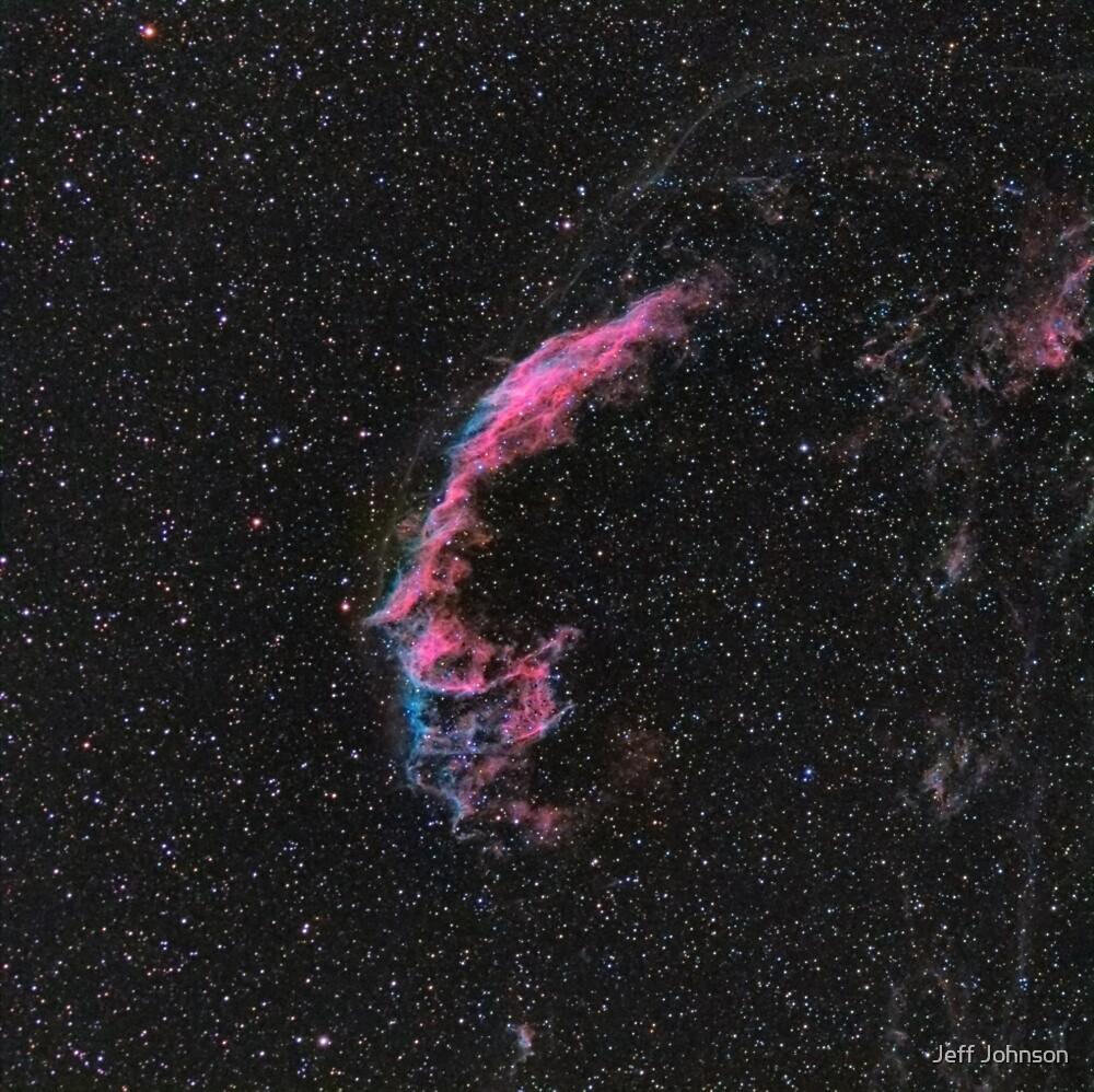 Eastern Veil Nebula by Jeff Johnson