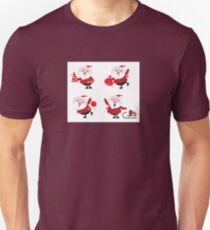 Vector Santas in various poses collection Unisex T-Shirt