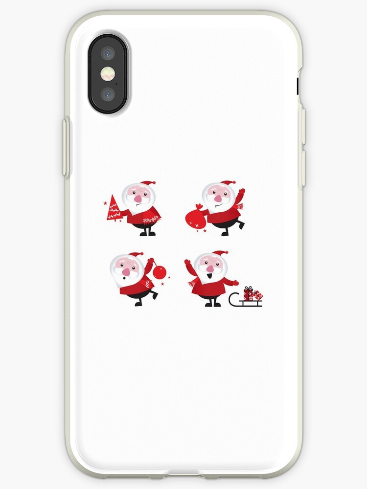 Vector Santas in various poses collection by Bee and Glow Illustrations Shop