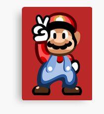 Mario 16 Bit Canvas Print