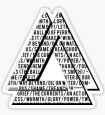 Wild World - Song Titles Sticker