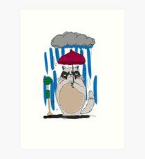 My Neighbor Grumpy Cat Art Print