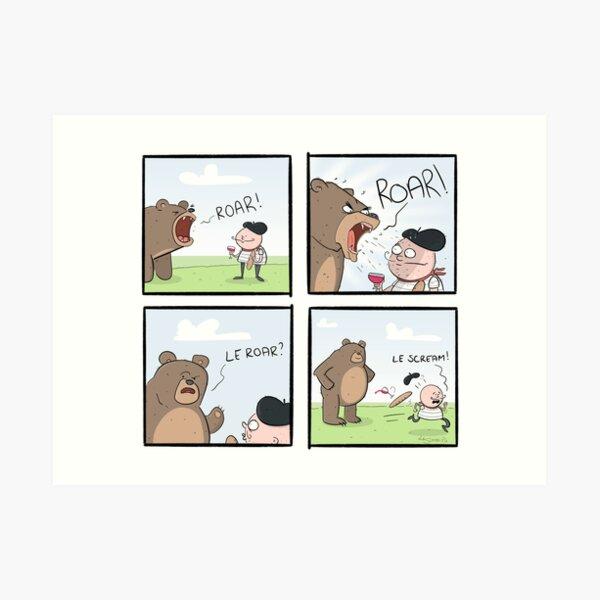 Le Bear Comic Art Print