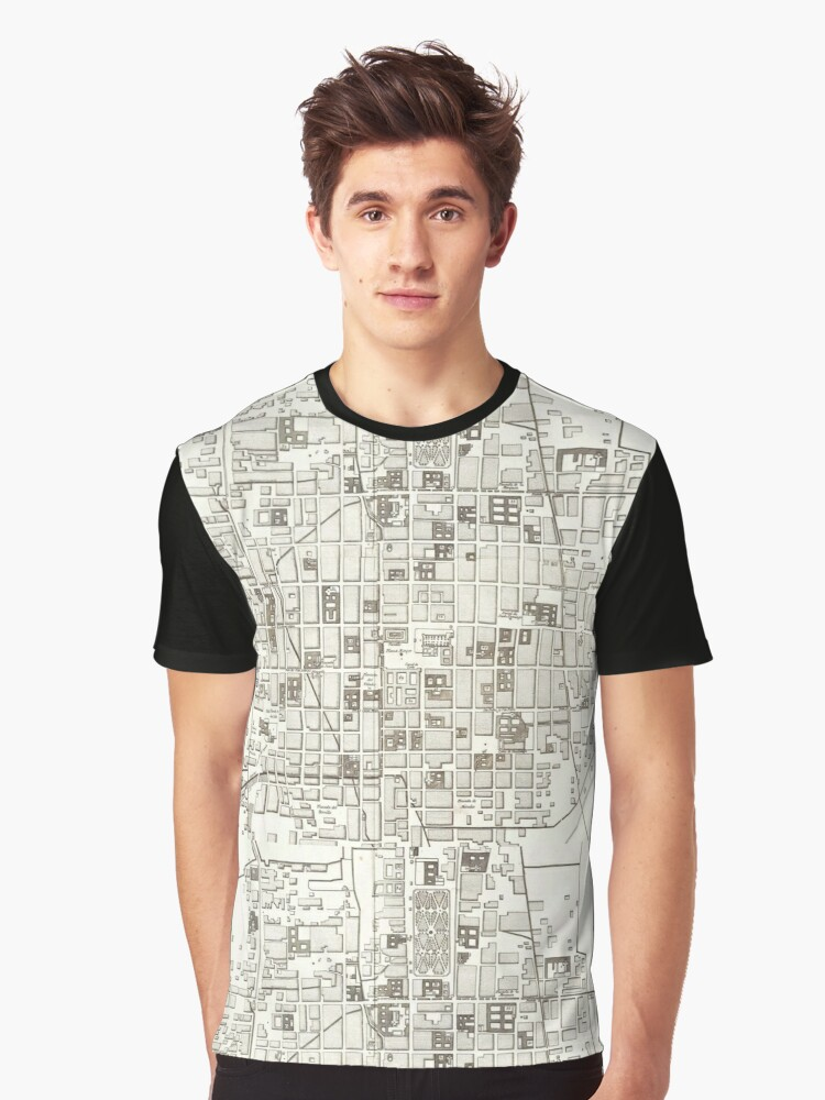 Map of Mexico City, 1785 Graphic T-Shirt Front