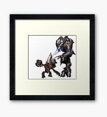 Halo Grunt + Elite Framed Print
