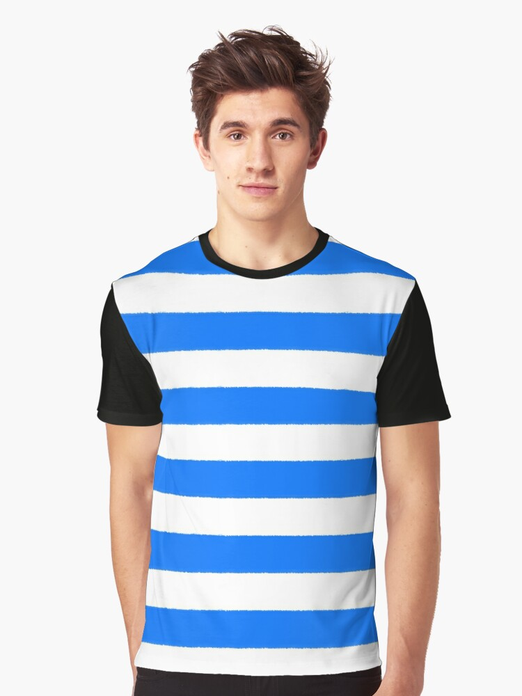 Hand drawn sailor stripes, seamless pattern Graphic T-Shirt Front