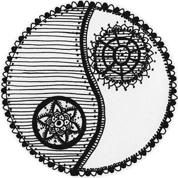 Mandala Yin y Yang de MariaSandia