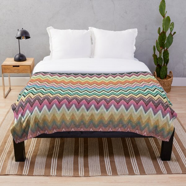 missoni zigzag home Throw Blanket