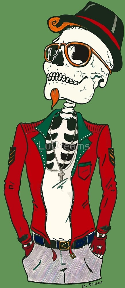 Hipster Skeleton. by LuDreams
