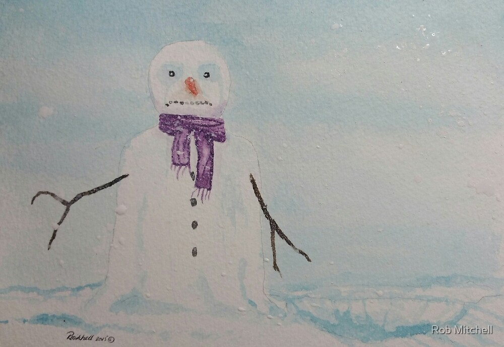 Lonely snowman by Rob Mitchell