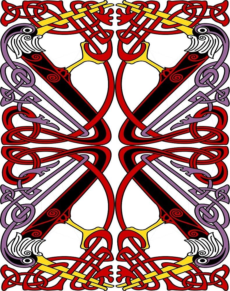 Hibernian Bird Pattern.   by CatholicSaints