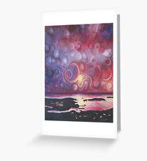 Circular sky Greeting Card