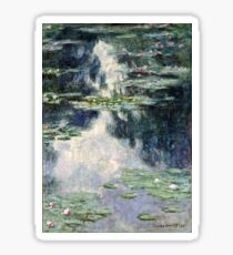 Claude Monet - Pond with Water Lilies (1907)  Sticker