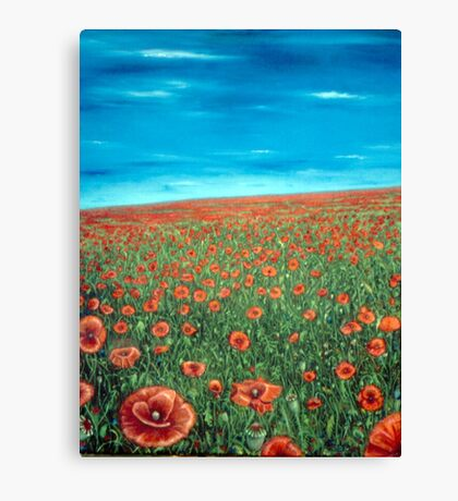 Poppyfield Canvas Print