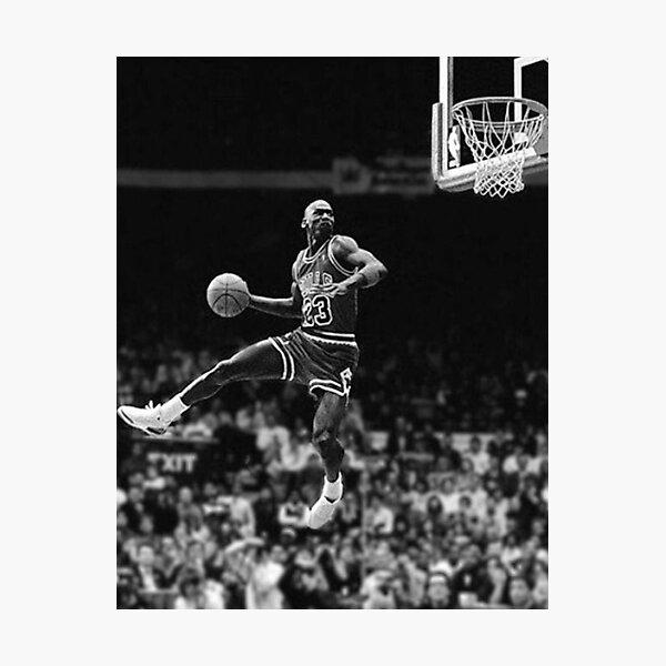 Michael Jordan Black and White Photographic Print