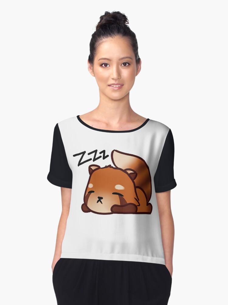 Sleeping Red Panda Women's Chiffon Top Front