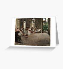 Edgar Degas - The Rehearsal ( 1873 - 1878)  Greeting Card