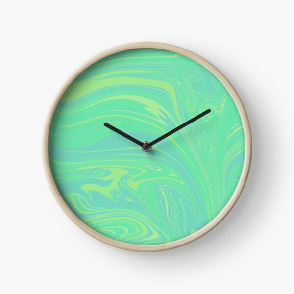 Swirly greens  Clock