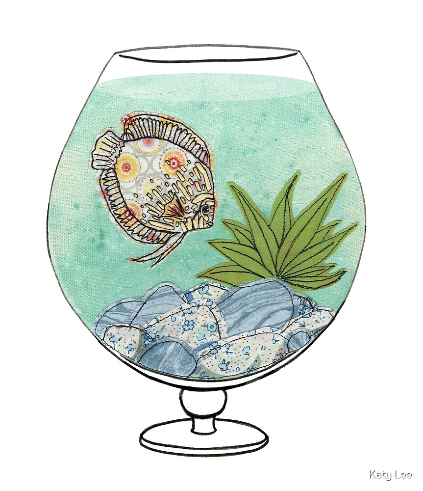 D is for Discus Fish Bowl by Katy Lee