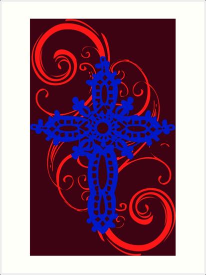 MYSTIC ERA CROSS BLUE N RED by SK8N