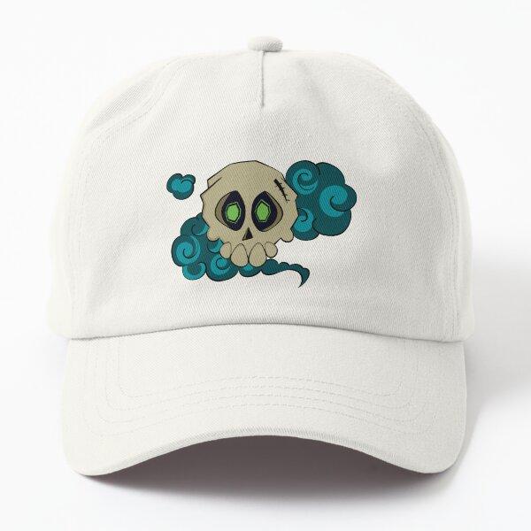 Skull with fog (green) Dad Hat